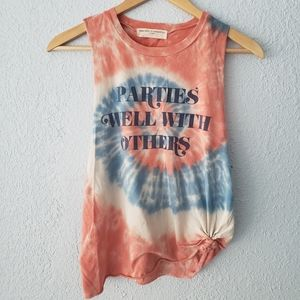 """Urban Outfitters """"parties well with others"""" tank"""